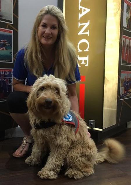 Sharon Chapman with Assistance Dog Kiri