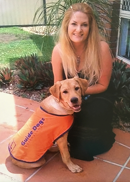 Sharon Chapman with Guide Dog Puppy Lucy