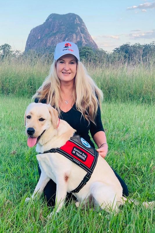 Sharon Chapman with SEDA puppy Paige